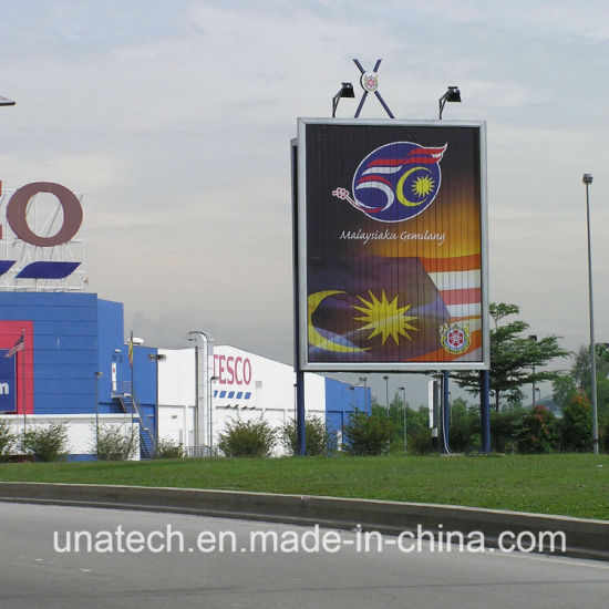 Outdoor Advertising Vertical LED Lamps Street Road Trivision Billboard