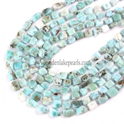 China Supplier Stone Beads Larimar with Nuggets Approx 38cm