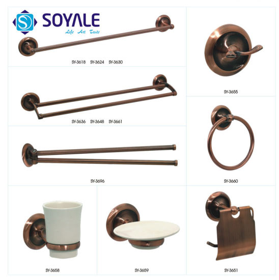 Zinc Alloy Bathroom Accessories Set with Antique Copper Finishing Sy-3600