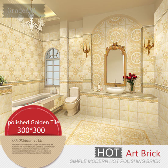 China Golden Ceramic Floor Tile for Washroom and Kitchen Decoration ...