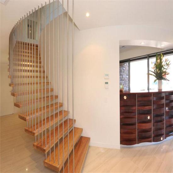 Luxury Indoor Steel Stringer Floating Staircase Steel Stairs