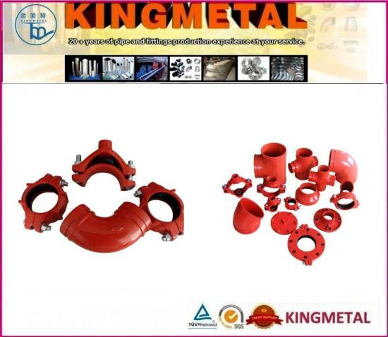 Ductile Iron Pipe Fittings Cross Tee Bend Taper Reducer pictures & photos
