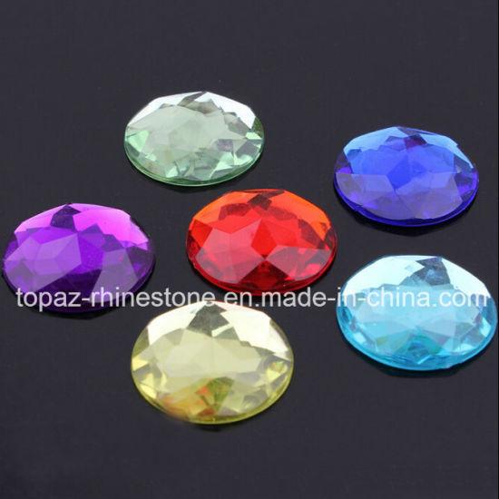 9567cac997 Round 50mm Colored Acrylic Stone Flat Back Gems No Holes Rhinestone  (FB-Round 50mm)
