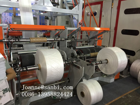 Double Head ABA Three Layers Co-Extrusion Film Blowing Machine pictures & photos