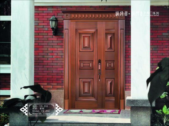 Villa Entrance Door Security Bronze Door Made By Foshan Door Manufacturer