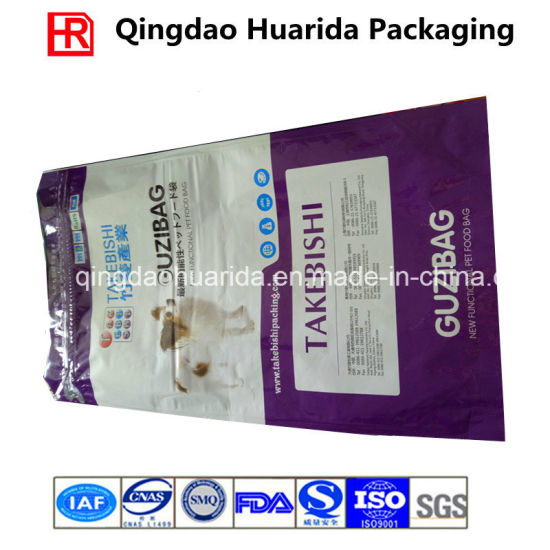 Custom Big Size Gusset Pet Food Packaging Bag with Zipper pictures & photos