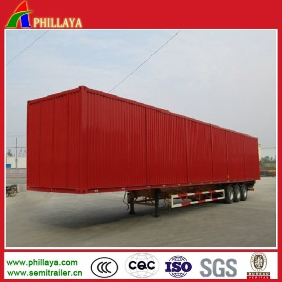 Van Body Side Open Cargo Truck Box Semi Trailer pictures & photos