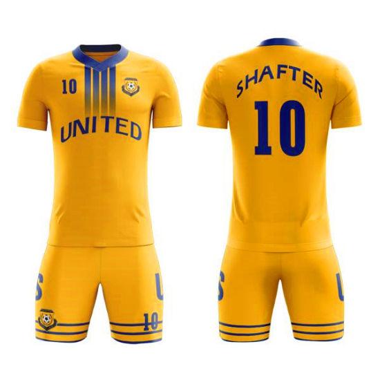 98aca8fe6ff Custom Sublimated Soccer Uniform Design Sports Heat Transfer Printing Soccer  Jerseys pictures & photos