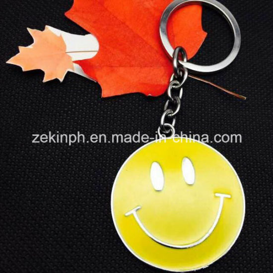 Simple Cheap Custom Smile Face Key Chains pictures & photos