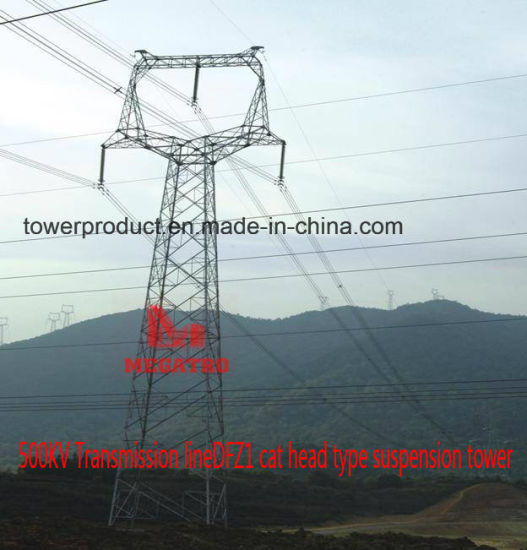 500kv Transmission Line Dfz1 Cat Head Type Suspension Tower