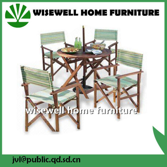 China Hardwood Outdoor Furniture with Director Chair - China Garden ...
