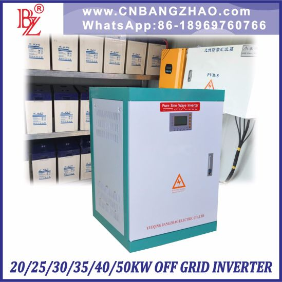 Power Frequency DC to AC Sine Wave Inverter (30kw) Built-in Charger Optional