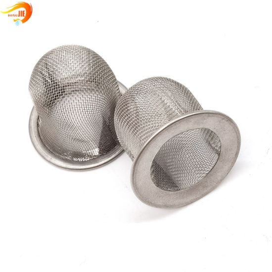 Stainless Steel Wire Mesh Filter Cap Style Filter Strainer
