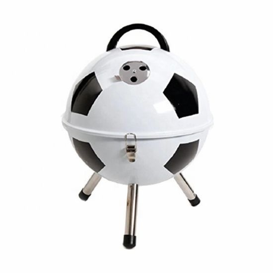 Outdoor Indoor Football Shape Portable Small BBQ Grill with Carbon Disk Cooking Football BBQ Grill
