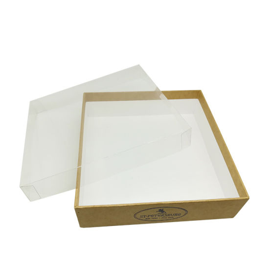 Wholesale Stock Exquisite Macaron Paper Gift Box with Clear Lid