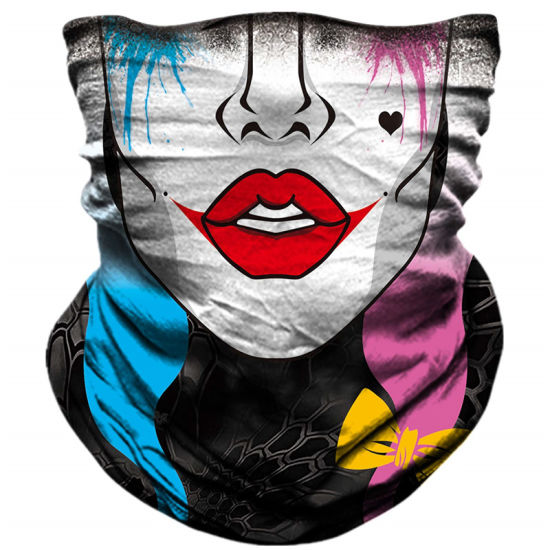 Retail Sign Systems 5 Pack Summer Neck Bandana Face Mask UV Sun Protection Unisex Elastic Neck Gaiter Face Mask Breathable Cooling Fishing Face Scarf Cover