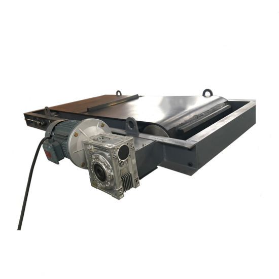 Self-Cleaning Overband Magnetic Separator with Permanent Magnet for Tyre Wire Recycling, Hanging Magnetic Overband Separator