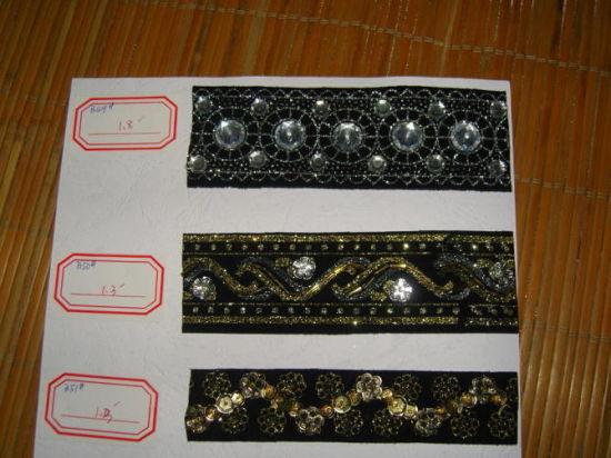 Rhinestone Costume Dress Craft Chain Crystal Beaded Wedding Belt Flower Applique
