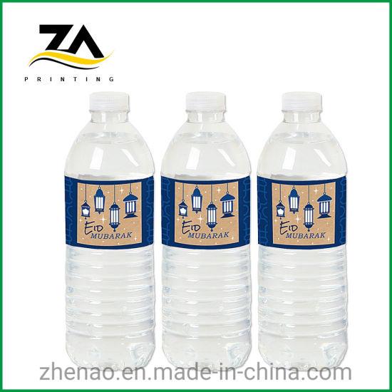 Fruit Juice Plastic Printed Transparent Beverage Bottle Label Printing Sticker