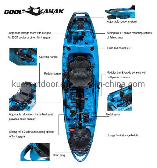 10FT Sit on Top Pedal Drive Kayak