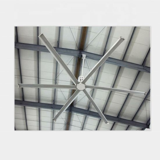 Super Large Ceiling Fan 6 Blades 220V/380V/415V High Volume Low Speed Fall Prevention and Low Energy Consumption
