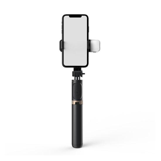 Q03s Rotatable Aluminum Alloy LED Wireless Bluetooth Selfie Stick Foldable