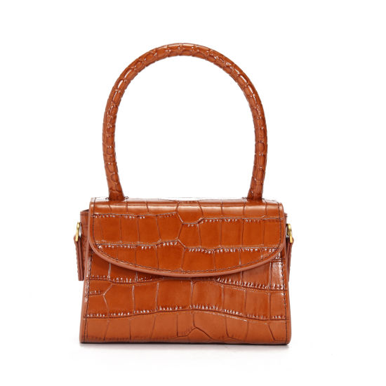 Crocodile Grain Leather Women Handbag