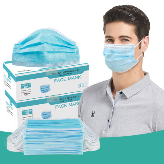 in Stock Facial Mask Particulate Respirator Disposable Medical Surgical Mask