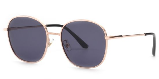 Vintage Round Sunglasses for Men Women, Tinted UV Protection Black Shade