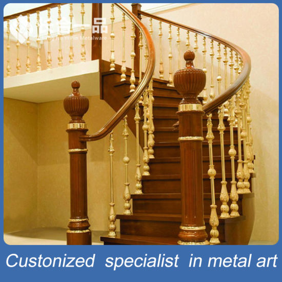 New Style Factory Manufacture Golden Stainless Balustrade for Villa/Hotel/Home