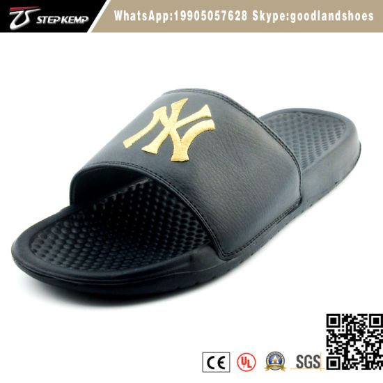 Men EVA Black Slipper Custom Brand Fashion Sandal Shoe Exs-5320