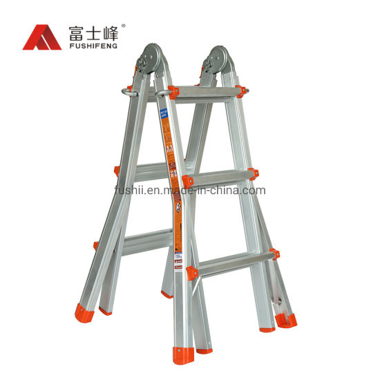 Flared Legs with Slip Resistant Multipurpose Position Aluminum Little Giant Foldable Ladder for Stairs