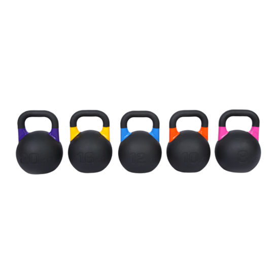 Colored Fitness Equipment Crossfit Cast Iron Coated Kettlebell Dumbbell Power
