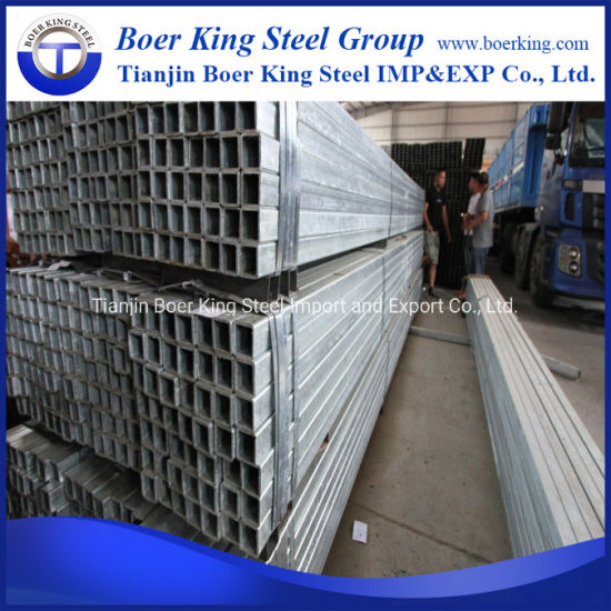 Thin Wall Pre Galvanized 20*20 25*25 32*32 Mild Metal Square Galvanzied Steel Tube pictures & photos