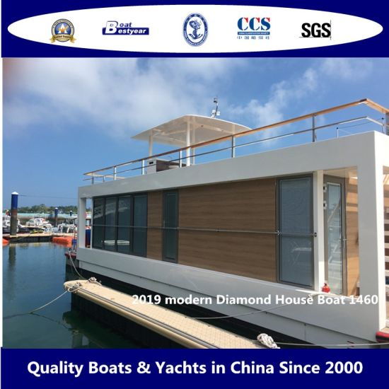 2019 Modern Diamond House Boat 1460 Fiberglass Sightseeing Pleasure Boat Lake or Seaside pictures & photos