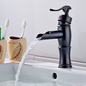 Flg Basin Faucet Oil Rubbed Bronze Sink Bathroom Waterfall Faucet/Tap