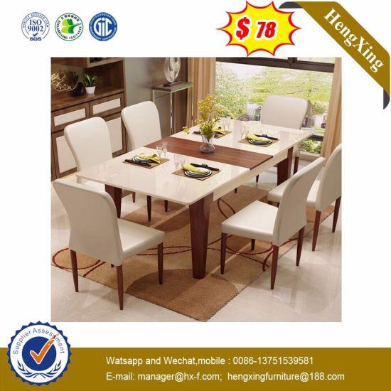 Modern Wooden Living Room Home Apartment Restaurant Canteen Hotel Dining Furniture (HX-8DN011)
