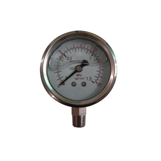 Factory Price 63mm 2.5 Inch Liquid Filled Pressure Gauge