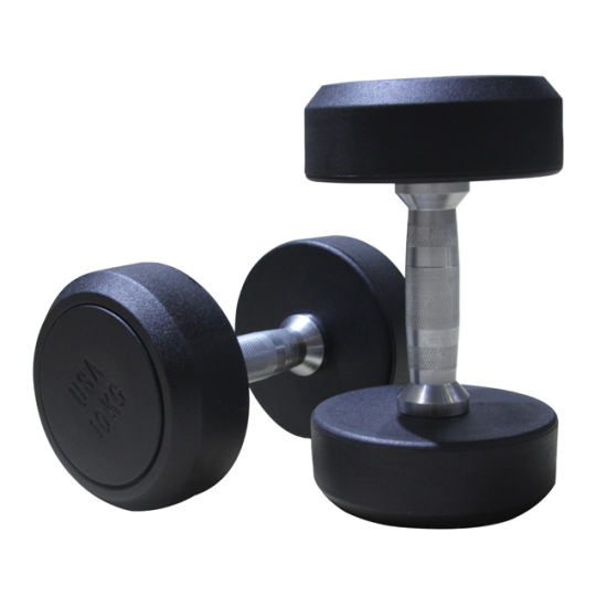 Crossfit Training Gym Equipment Rubber Dumbbell for Weight Lifting pictures & photos