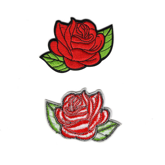 Embroidered Sew on Badge Patch ENGLAND Rose Shield