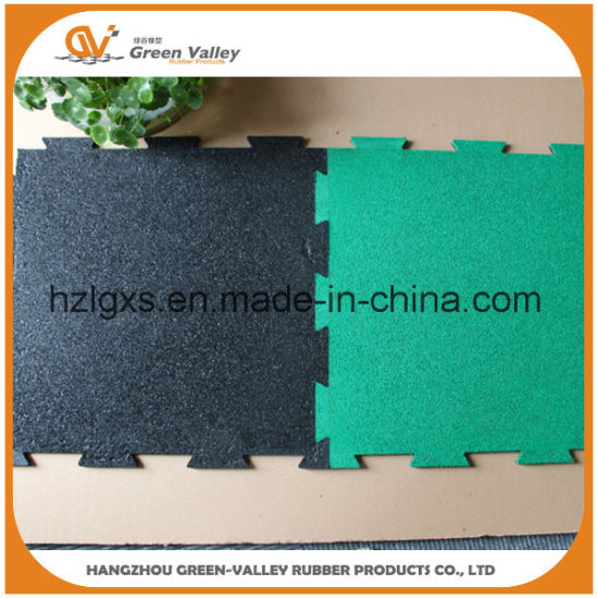 Anti-Shock Interlocking Rubber Flooring Tiles Rubber Mats for Powerlifting Room