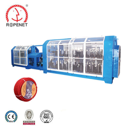 3 or 4 Strands Twisted Plastic PP/PE/Pet/Nylon/Multifilament Rope Making Machine