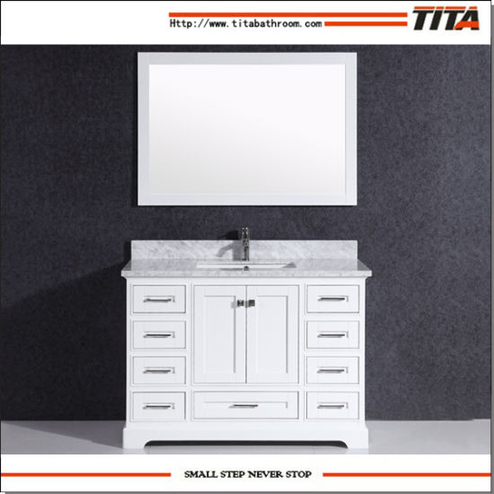 Solid Wood Bathroom Vanity Cabinet T9311-72W pictures & photos