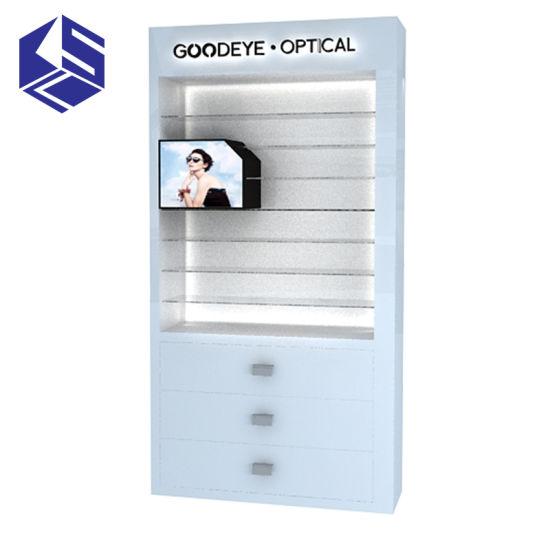 Wooden Shop Decoration Optical Store Eyewear Display Stand