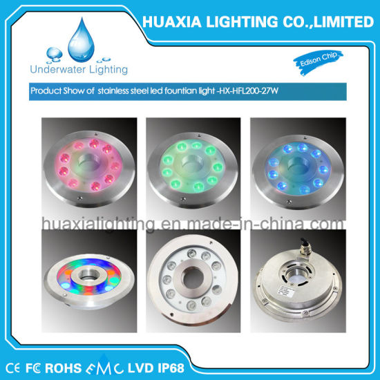 27watt Fountain Underwater LED Light for Swimming Pool Light pictures & photos