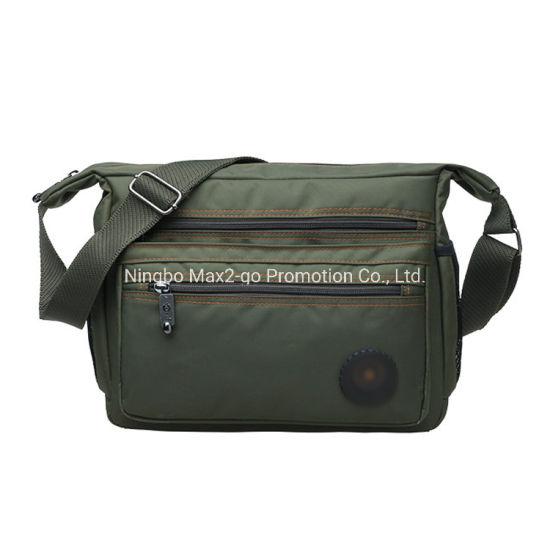 Large Capacity Leisure Nylon Crossbody Bag for Man