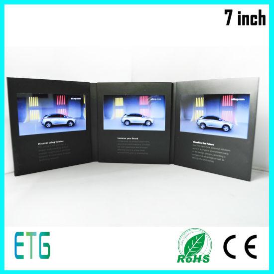 A5 256MB LCD Digital Catalogue Video Greeting Brochure