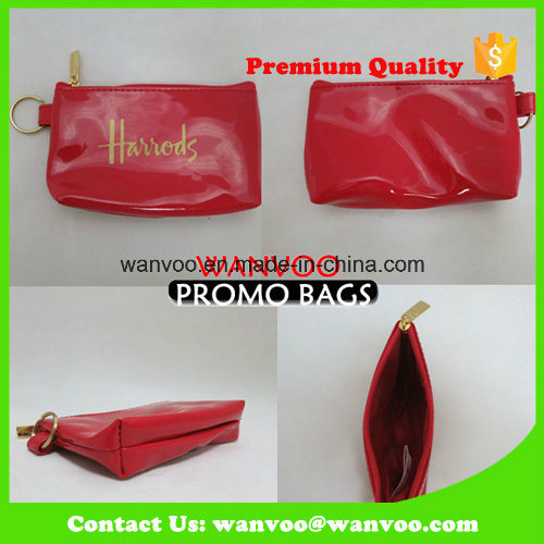 China Supplier Shiny Red Cosmetic Bag for Lady Handbag pictures & photos