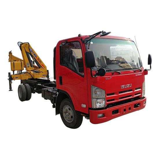 Japan Isuzu 100p 600p 700p 2tons 3tons 4tons Light Truck Crane for Sale