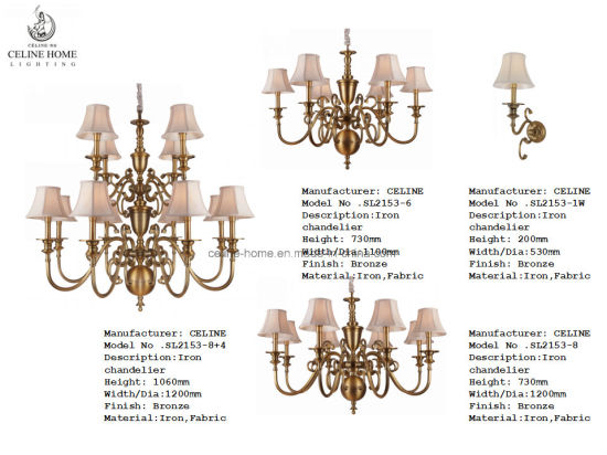 Top Grade Iron Pendant Lamp Hanging Chandelier (SL2153-8+4) pictures & photos